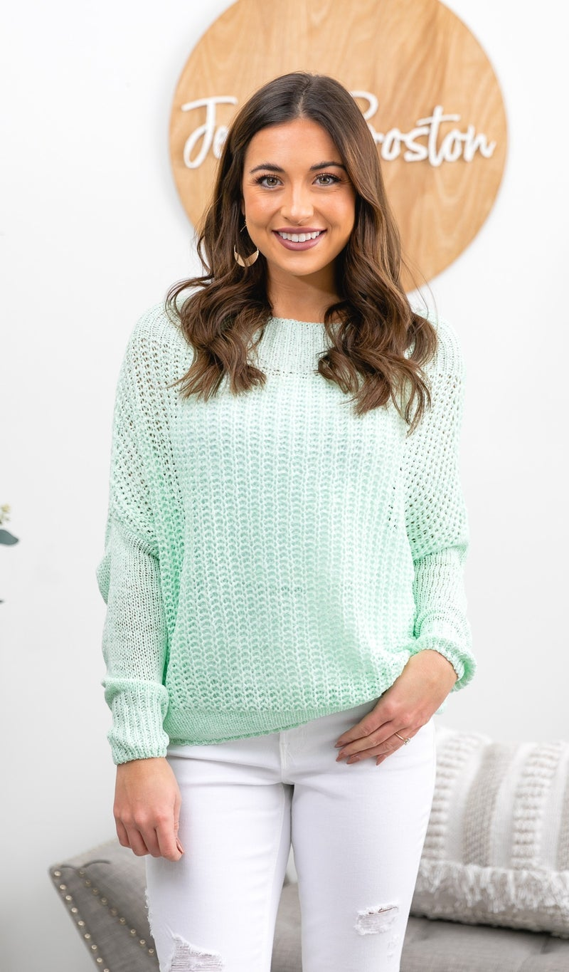 The Claudia Sweater, Mint