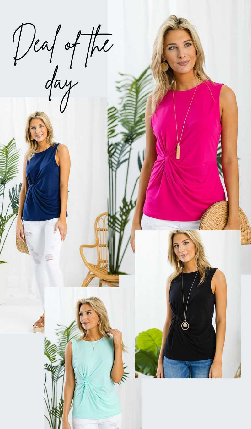 All Seasons Sleeveless Top, Mint, Pink, Black, or Navy