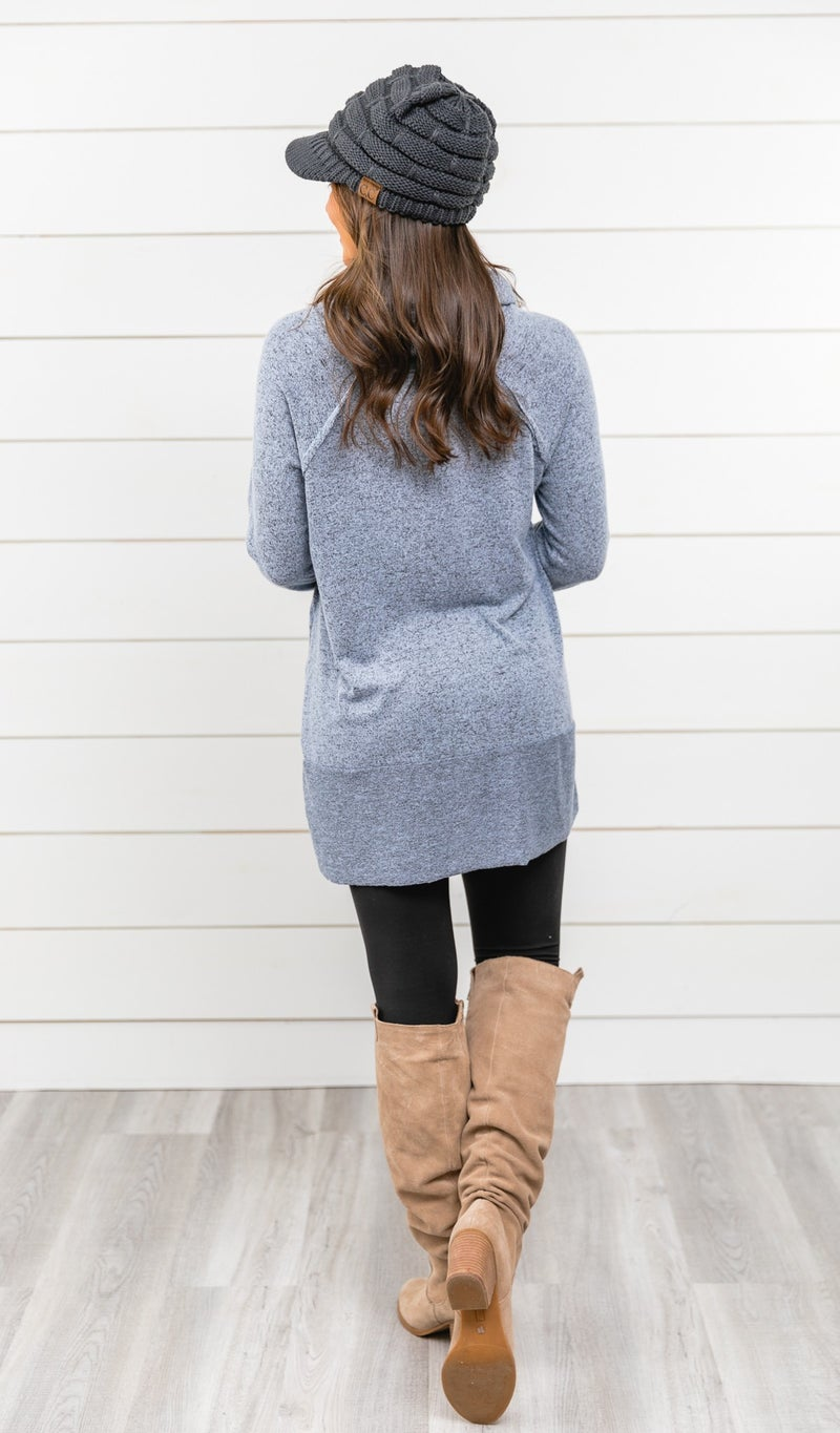 The Perfect Addition Tunic, Blue
