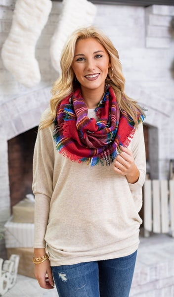All Day Favorite Scarf, RED