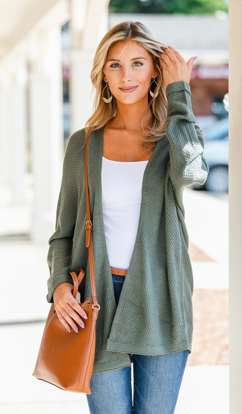 Calling My Name Cardigan, Clay or Olive