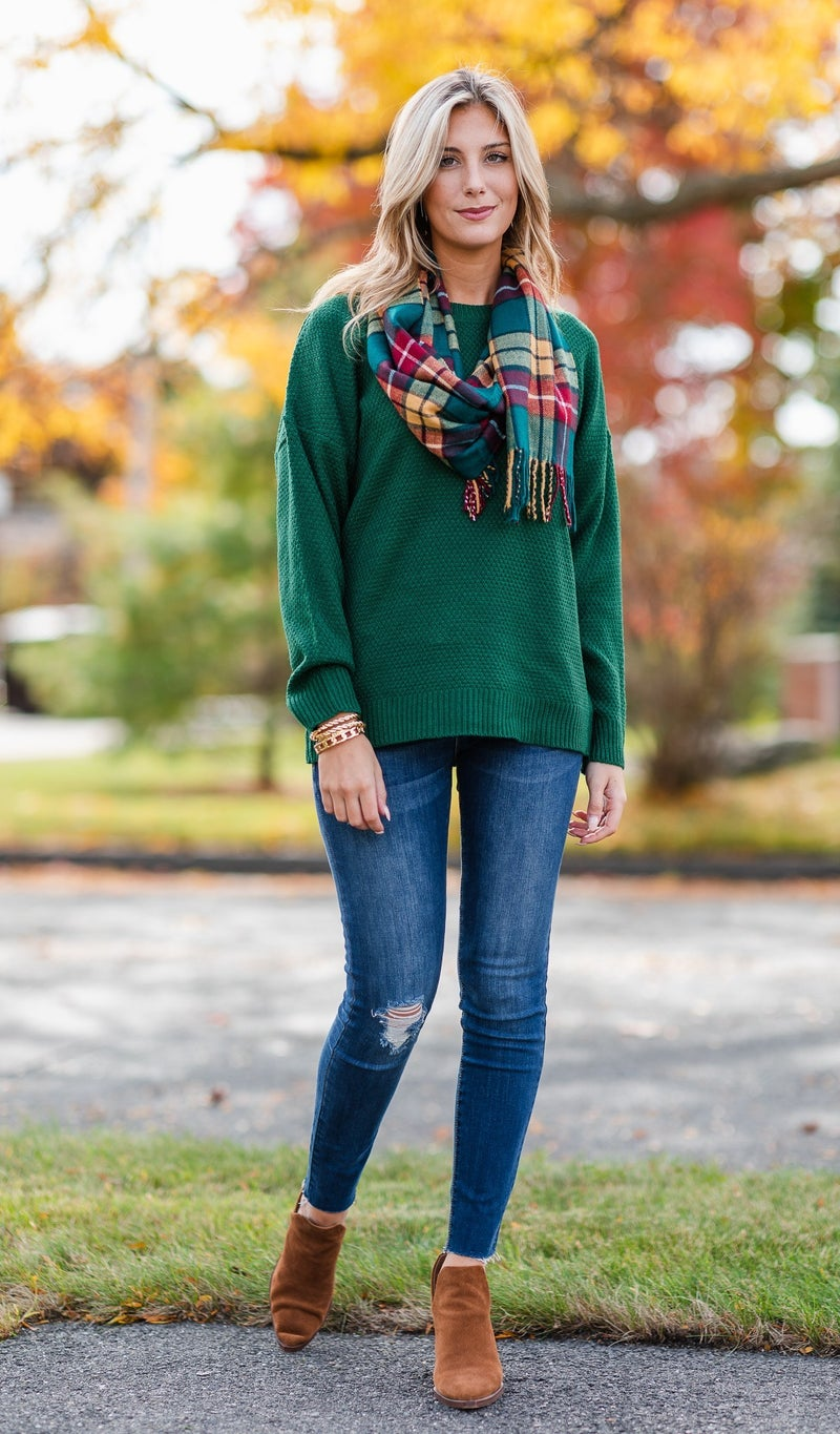 All Time Favorite Sweater, Charcoal or Hunter Green