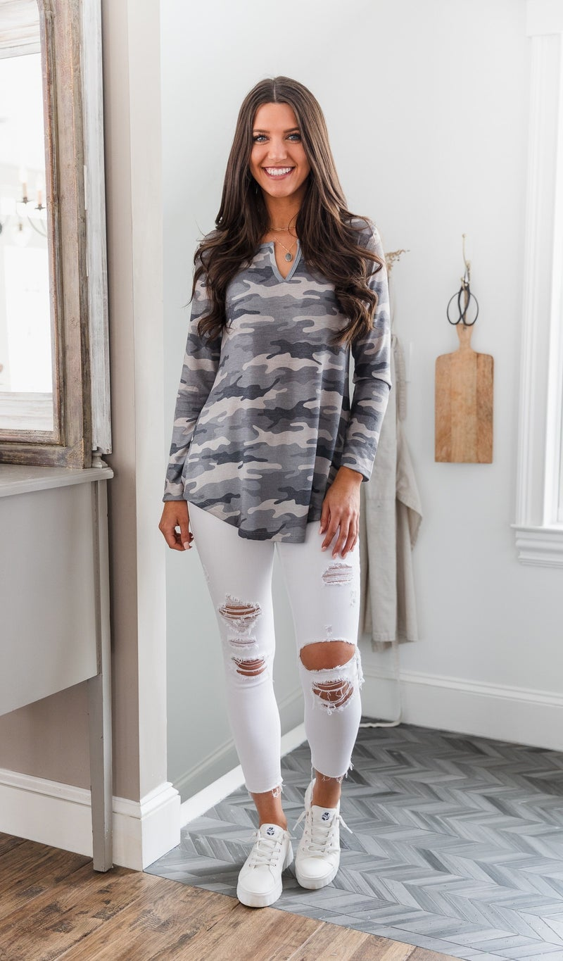 The Bailey Camo Top