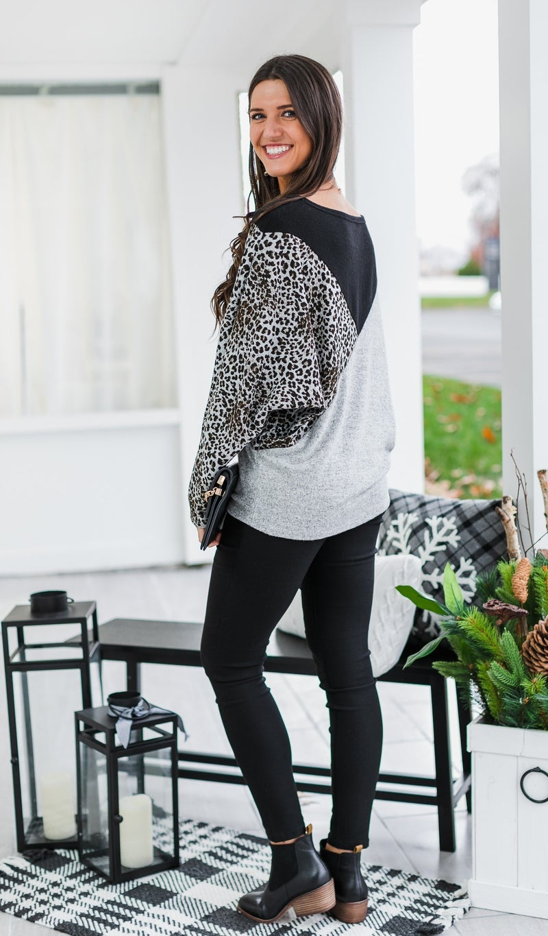 Runway Ready Sweater, Grey