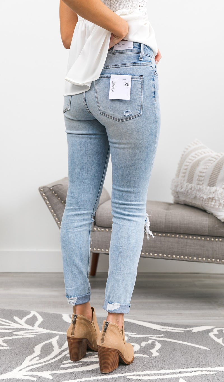 Indigo High-Rise Skinny Jean, Light Wash