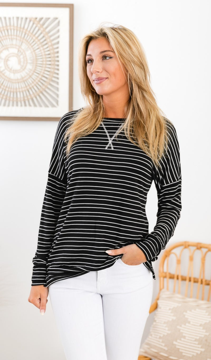 Living For Fall Top, Charcoal or Grey *Final Sale*