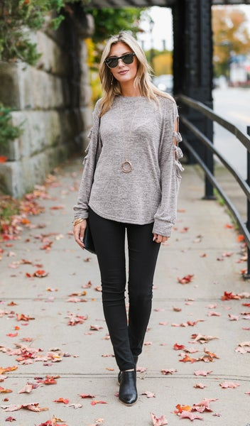 The Victoria Top, Taupe or Burgundy