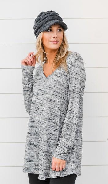 The Staple Long Sleeve, Grey