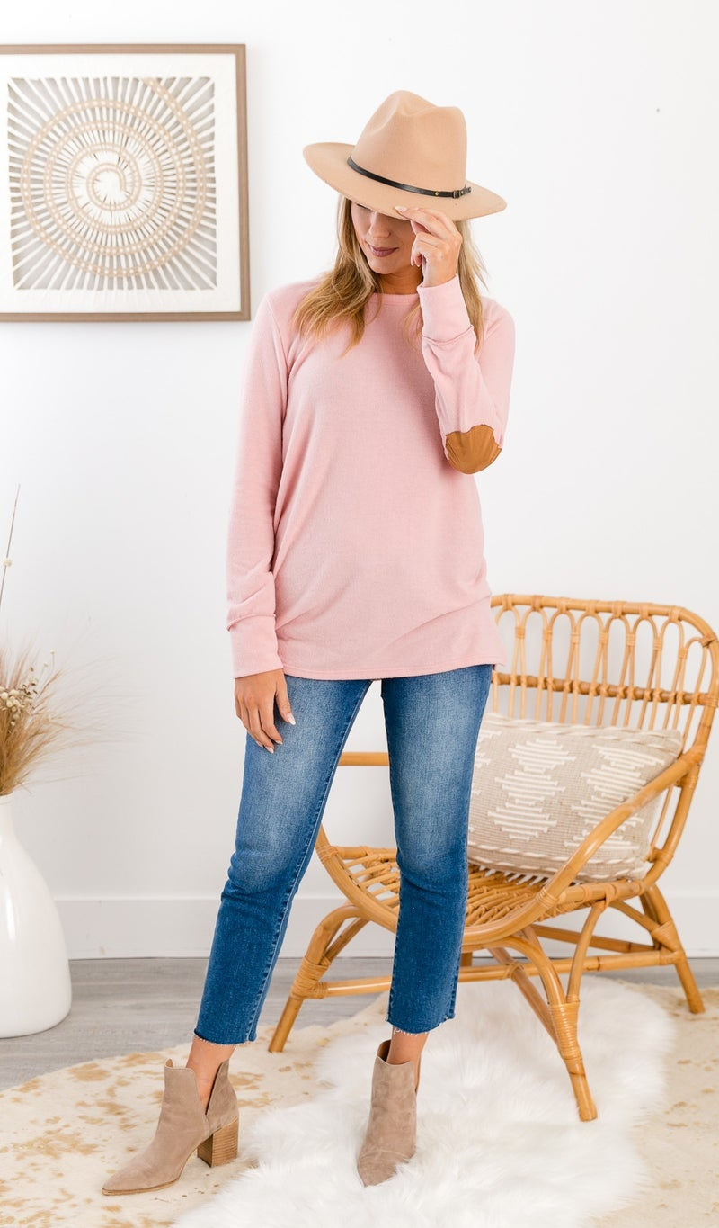 Cute As A Button Top, Pink
