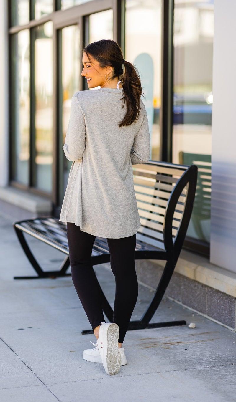 The Classic Long Sleeve, Black & Grey