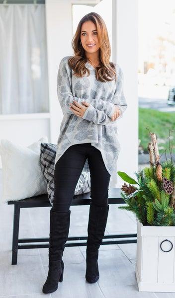 The Savannah Sweater, Grey