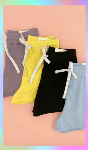 Rockwell Casual Shorts, Blue, Butter, Pink or lilac