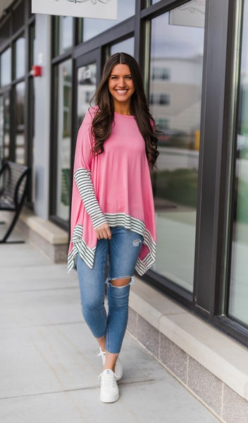 City Ready Top, Heathered Coral