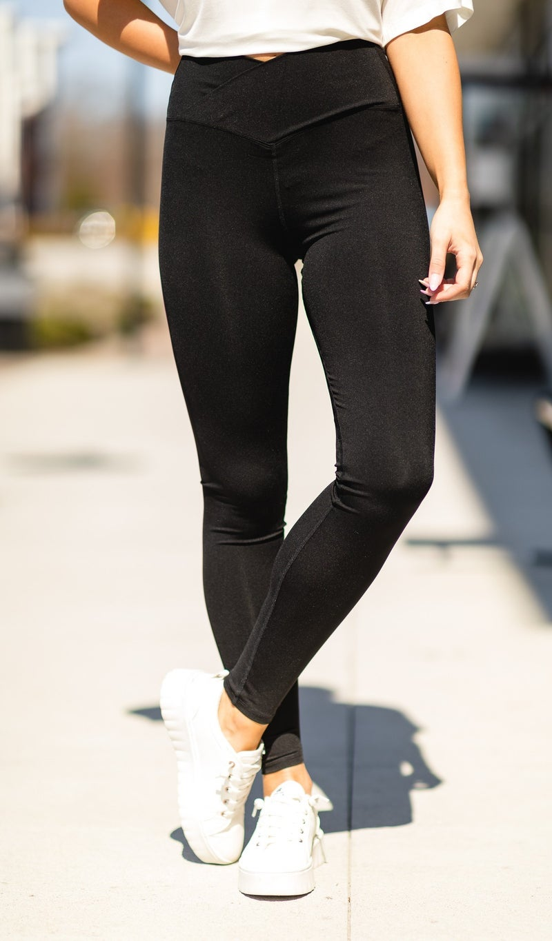 Stay On Trend Leggings, Black