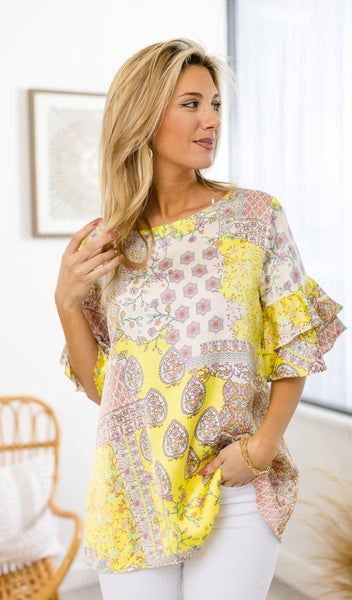 The Alia Top, Yellow