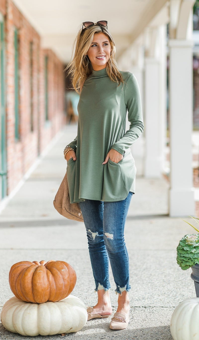 Downtown Tunic, Eggplant, Grey or Olive