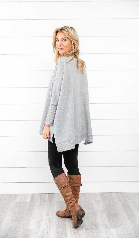 The Cassie Sweater, Heathered Grey