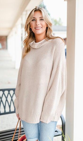 On My Mind Sweater, Oatmeal