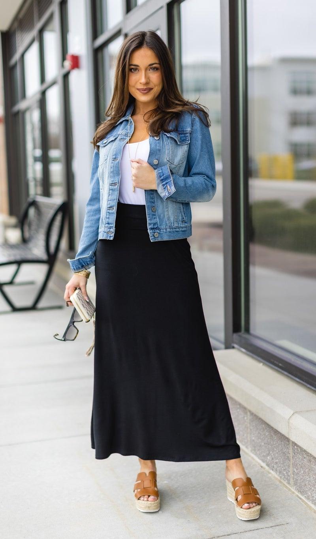 Paradise Bay Maxi Skirt, Black