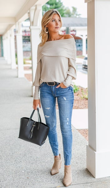 On Brand Top, Taupe