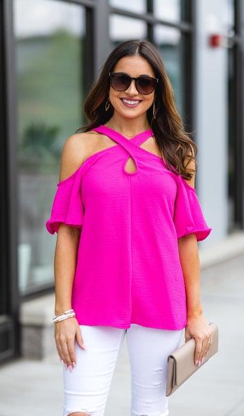 Girls Night Blouse, Hot Pink