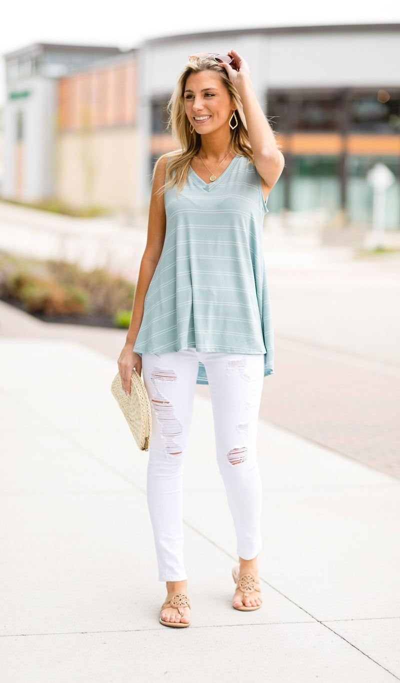First Choice Tank, Ivory or Sage