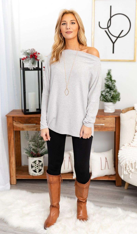 Holiday Horizon Top, Grey