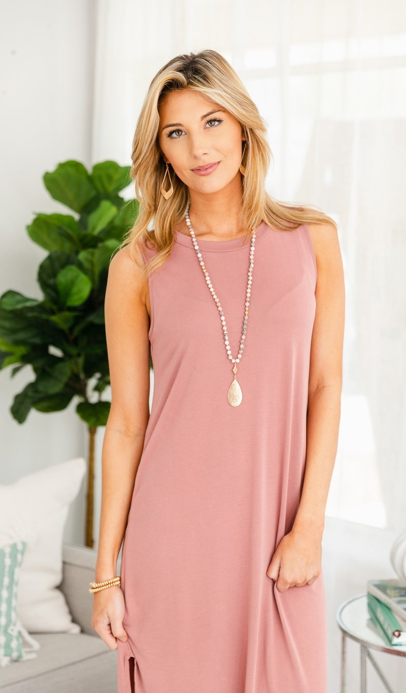 Mia Dress, Mauve