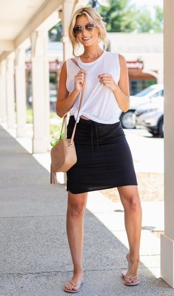 Slip Into Casual Skirt, Black