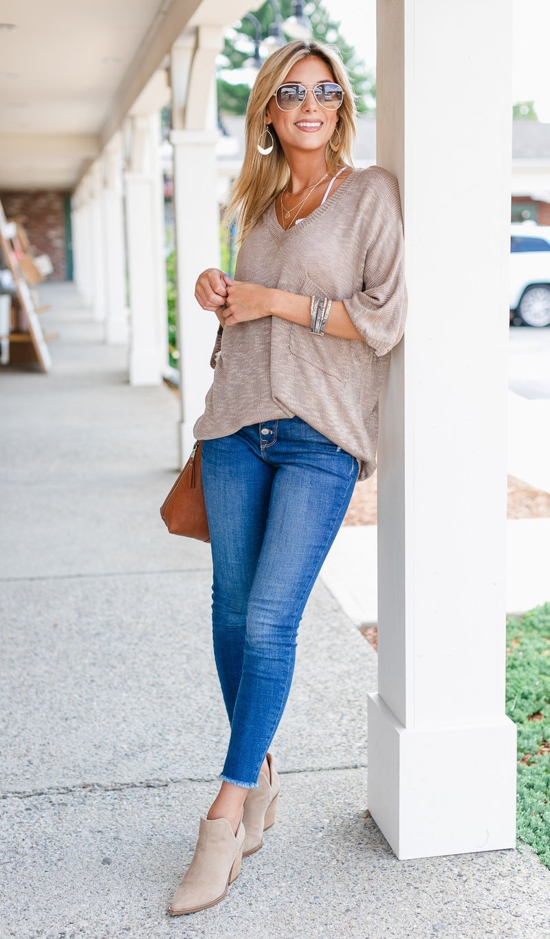 Beyond Basic Sweater, Teal or Mocha
