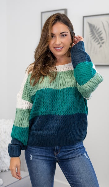 The Natasha Sweater, Teal