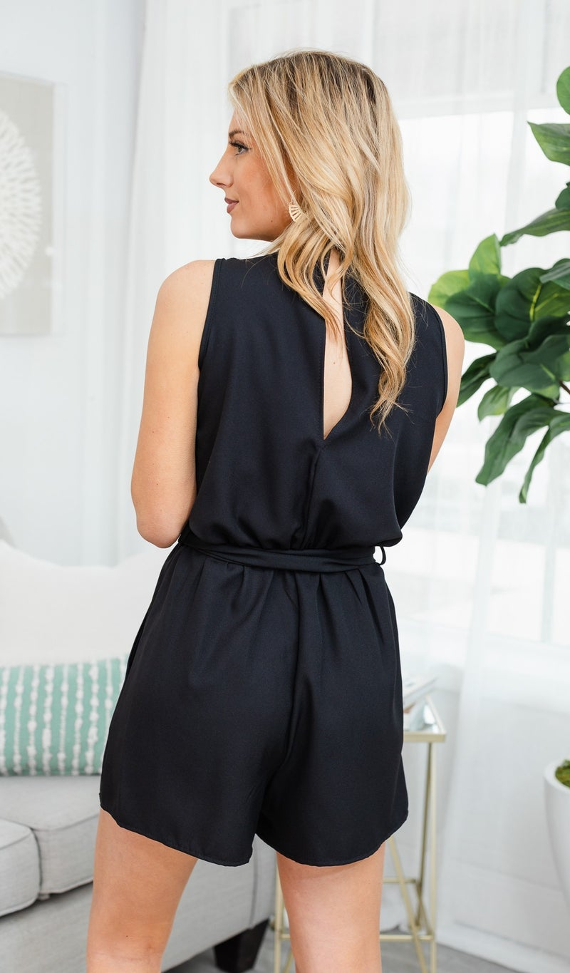 Beautiful Days Ahead Romper, Black
