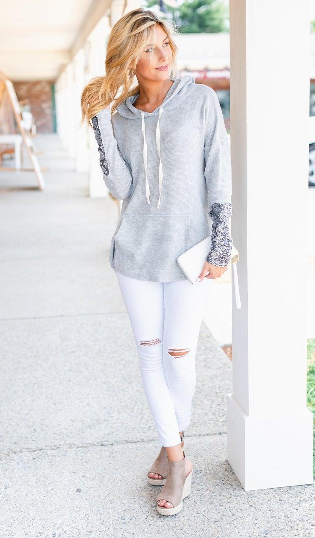 The Nora Hoodie, Grey