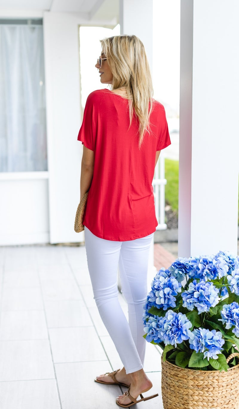 Top Quality Tee's, Pink, Mint, White, Red, Black