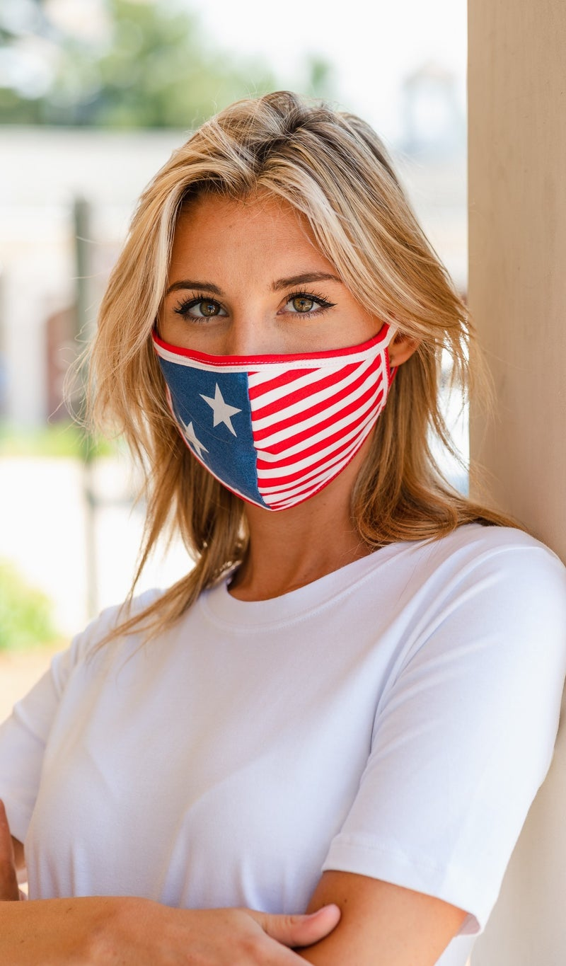 Face Cover, Flag Print