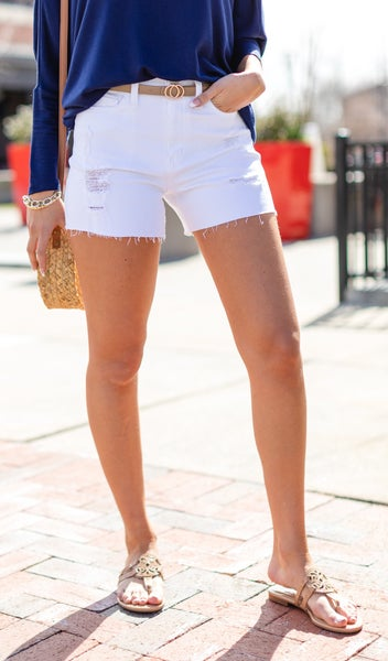 The Picnic Shorts, White