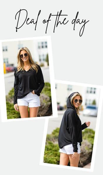 Feeling Good Pullover, Black