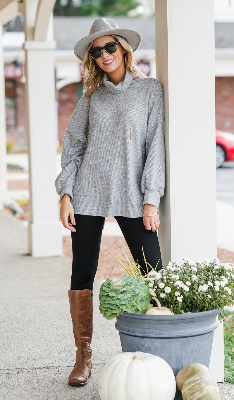 All Day Long Tunic, Oatmeal or Grey