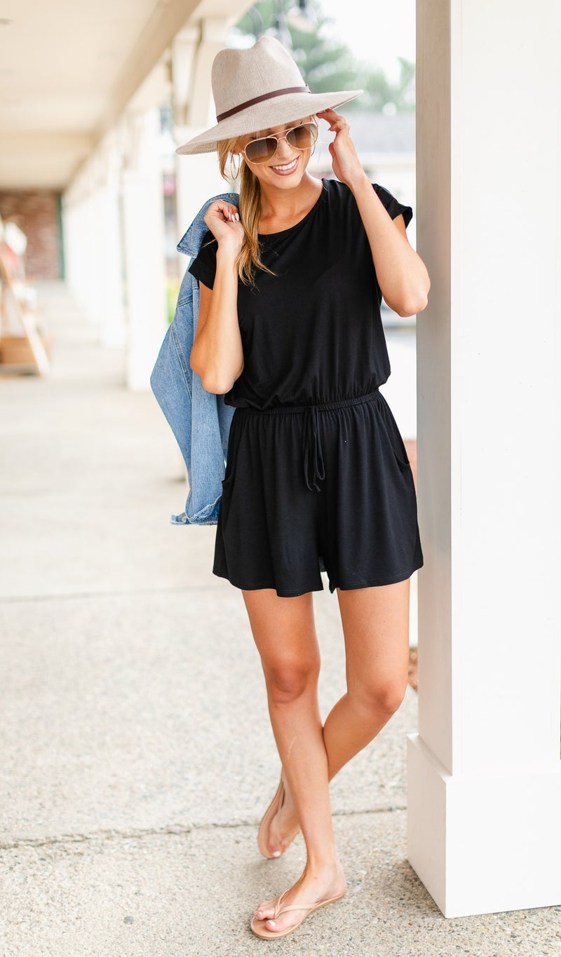 Back Together Romper, Black