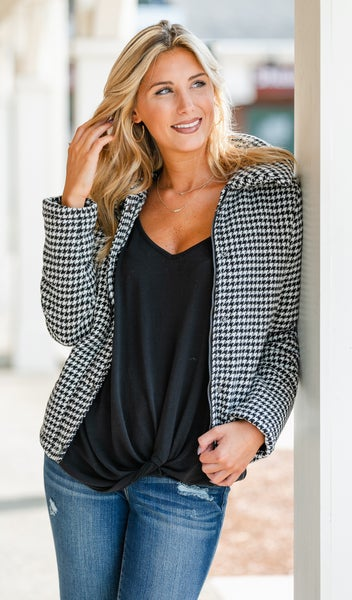 Fall Air Breeze Jacket, Black& Ivory
