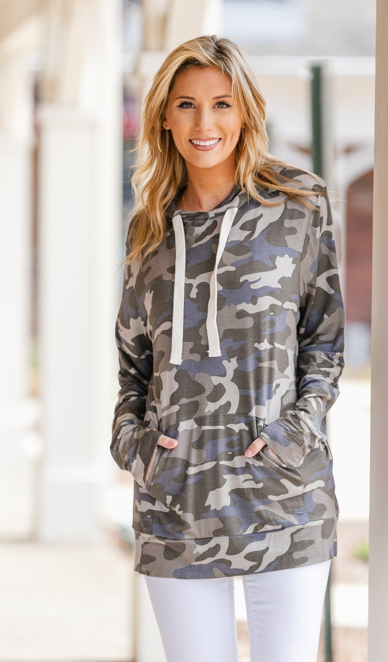 On All Sides Hoodie, Camo