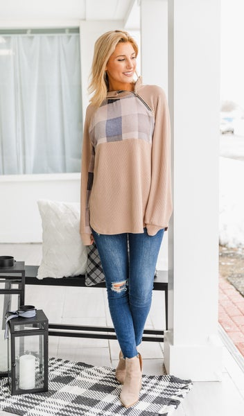 Vail Days Top, Taupe