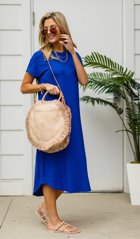 Beach Trip Straw Bag