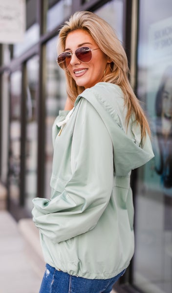 Windy In The City Jacket, Sage