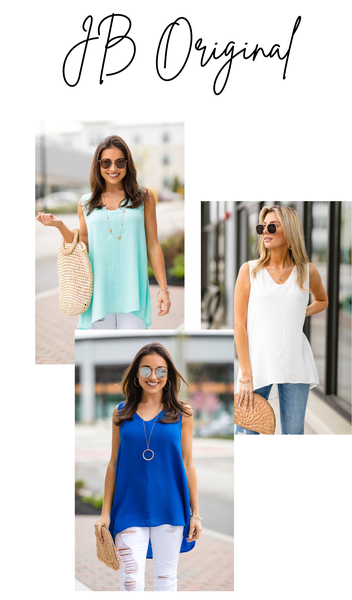 The Nia Tank, Ivory, Mint, Or Royal