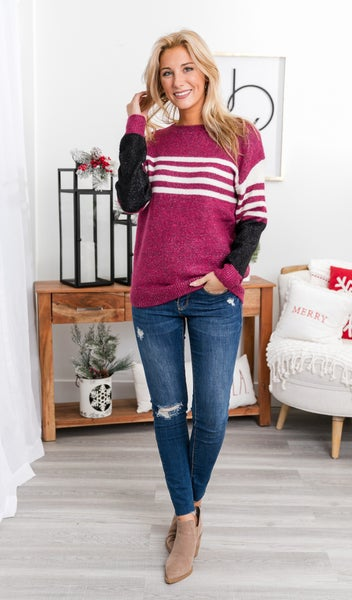 Fancy Friday Sweater, Mauve