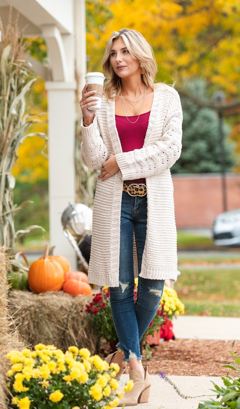 Fall Favorite Cardigan, Beige