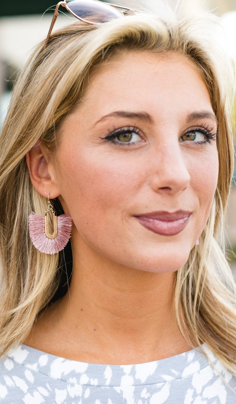 The Angelica Earrings, Pink or Grey