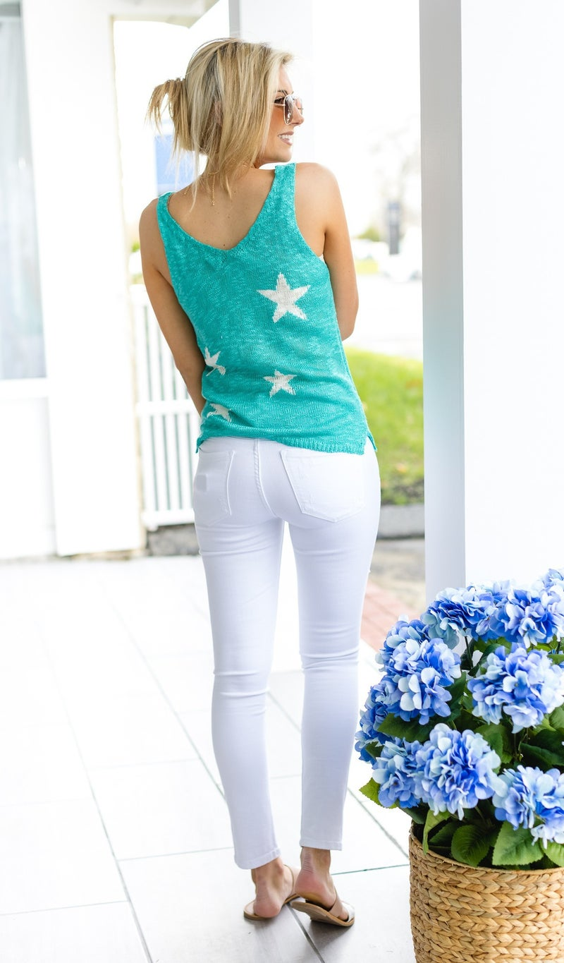 Memories To Come Tank, Turquoise