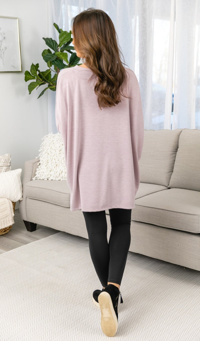 Center Stage Tunic, Dusty Mauve